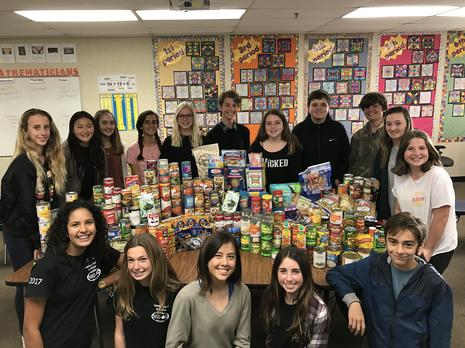 NJHS Canned Food Drive to Support FAM
